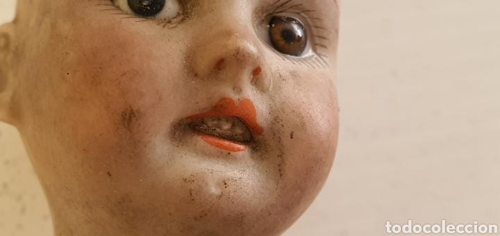 Muñecas Porcelana: RARISIMO MUÑECA CARTONPIEDRA Y CABEZA DE PORCELANA .MUY ANTIGUI - Foto 5 - 206427555