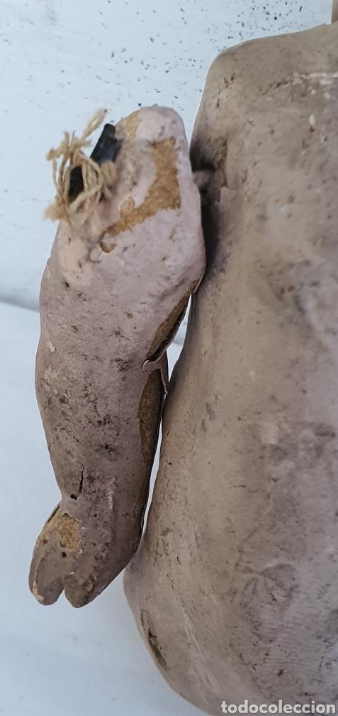Muñecas Porcelana: RARISIMO MUÑECA CARTONPIEDRA Y CABEZA DE PORCELANA .MUY ANTIGUI - Foto 7 - 206427555