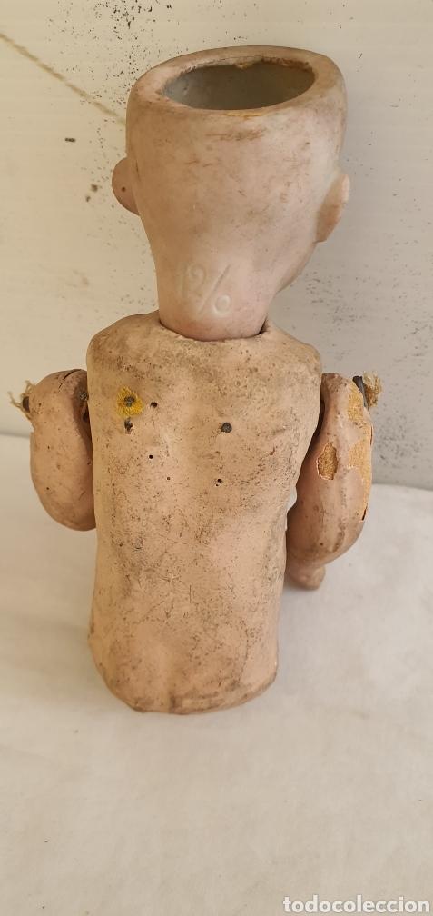 Muñecas Porcelana: RARISIMO MUÑECA CARTONPIEDRA Y CABEZA DE PORCELANA .MUY ANTIGUI - Foto 8 - 206427555