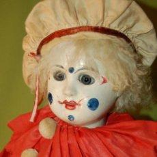 Muñecas Porcelana: PAYASO FRANCÉS STEINER O RABERY DELPHIEU. Lote 208219097