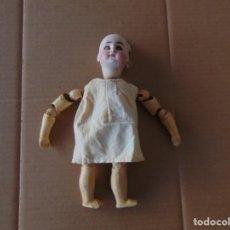 Muñecas Porcelana: ANTIGUA MUÑECA CABEZA DE PORCELANA JUMEAO ?? MARCADA EN NUCA Nº 182 RESTAURAR MIDE SOBRE 29 CM. Lote 210037740
