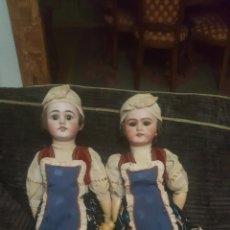 Muñecas Porcelana: 2 MUÑECAS JUMEAU UNA MARCA DEP Y OTRA 5 1/2 K.. Lote 218835357