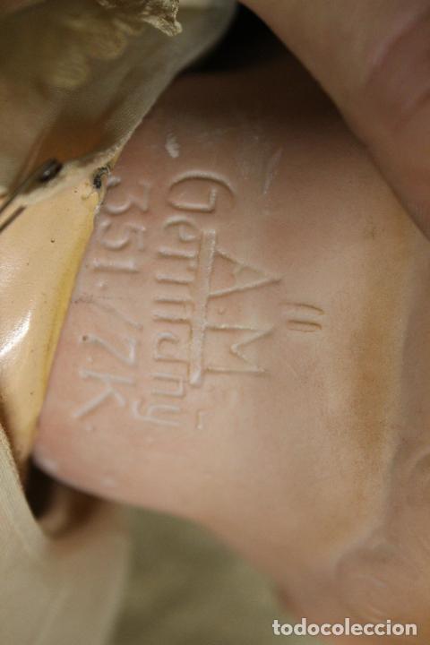 Muñecas Porcelana: Muñeco bebé de cara de porcelana.Cuerpo cartón piedra.Fdo AM.Armand Marseille.Alemania.S XIX-XX. - Foto 4 - 220560007