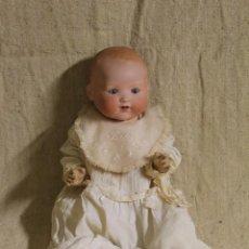 Muñecas Porcelana: MUÑECO BEBÉ DE CARA DE PORCELANA.CUERPO CARTÓN PIEDRA.FDO AM.ARMAND MARSEILLE.ALEMANIA.S XIX-XX.. Lote 220560007