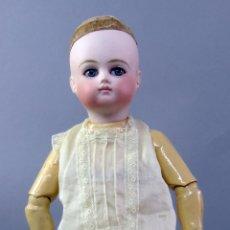 Bonecas Porcelana: BEBE SCHMITT POUPÉE MARCA NUCA 4/0 MUÑECA PORCELANA FRANCESA BOCA CERRADA CUERPO MADERA XIX 32 CM. Lote 222571985