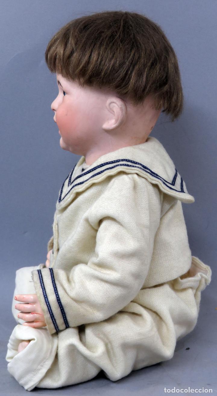 Muñecas Porcelana: Bebé SFBJ 236 París 8 cabeza porcelana marca nuca cuerpo composición vestido marinero 36 cm alto - Foto 4 - 223487190