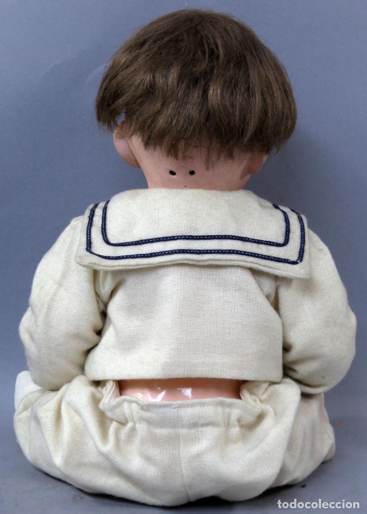 Muñecas Porcelana: Bebé SFBJ 236 París 8 cabeza porcelana marca nuca cuerpo composición vestido marinero 36 cm alto - Foto 5 - 223487190
