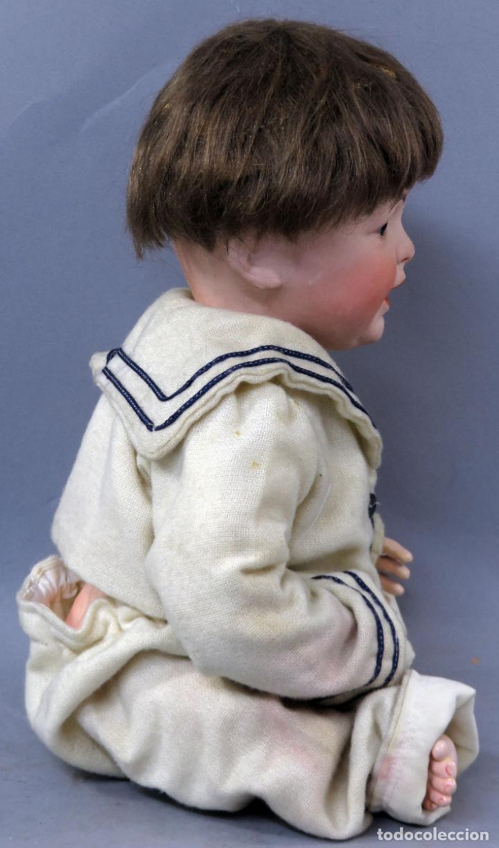 Muñecas Porcelana: Bebé SFBJ 236 París 8 cabeza porcelana marca nuca cuerpo composición vestido marinero 36 cm alto - Foto 6 - 223487190