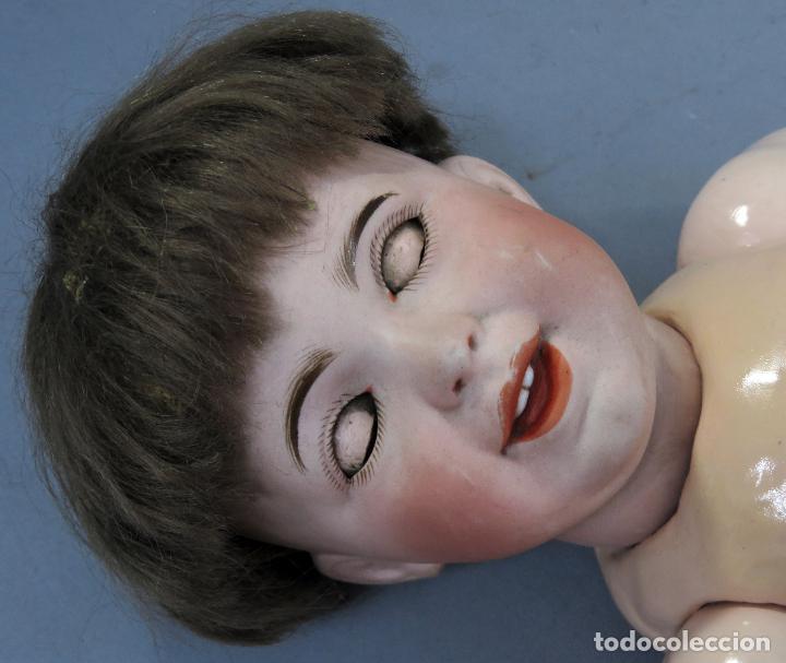 Muñecas Porcelana: Bebé SFBJ 236 París 8 cabeza porcelana marca nuca cuerpo composición vestido marinero 36 cm alto - Foto 13 - 223487190