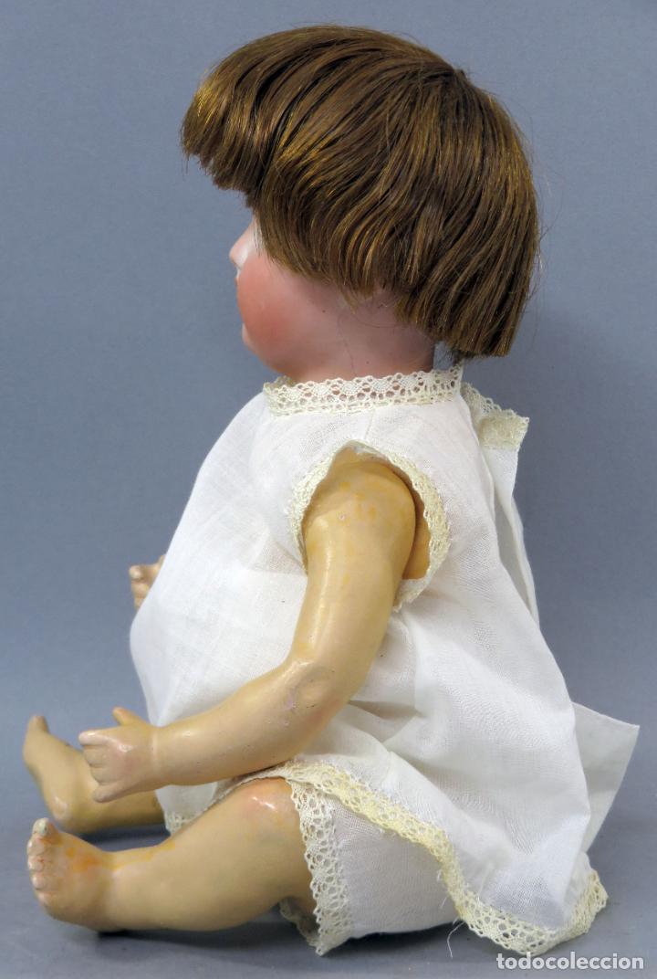 Muñecas Porcelana: Muñeca Ancora LC Ancla marca nuca 1 cabeza porcelana cuerpo composición ojos fijos 32 cm alto - Foto 4 - 223488578