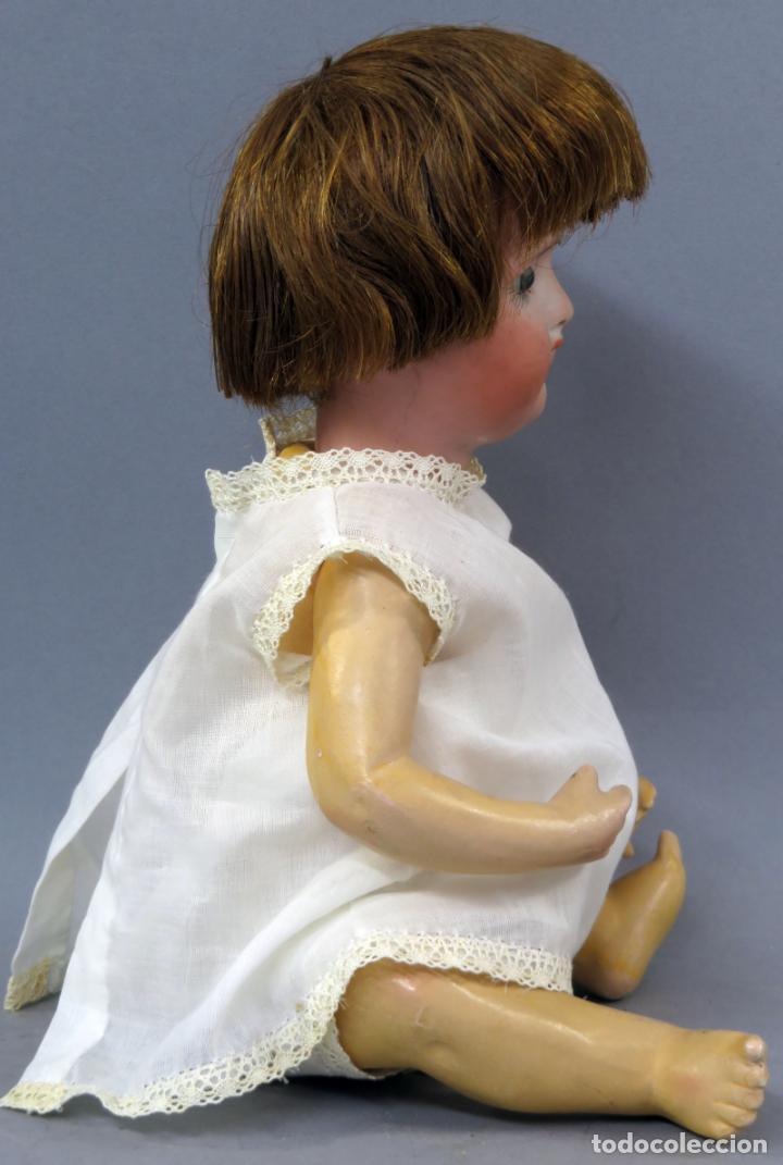 Muñecas Porcelana: Muñeca Ancora LC Ancla marca nuca 1 cabeza porcelana cuerpo composición ojos fijos 32 cm alto - Foto 6 - 223488578