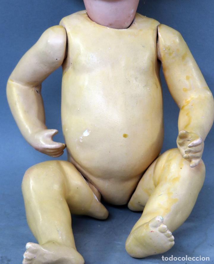 Muñecas Porcelana: Muñeca Ancora LC Ancla marca nuca 1 cabeza porcelana cuerpo composición ojos fijos 32 cm alto - Foto 8 - 223488578
