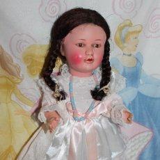 Muñecas Porcelana: ANTIGUA MUÑECA FRANCESA ANDADORA, CARTON PIEDRA, CABEZA RHODOID 45CM - DOLL,POUPEE PUPPE. Lote 230212725