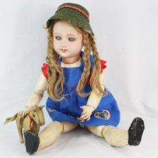 Bambole Porcellana: GRAN MUÑECA COMPOSICIÓN PORCELANA UNIS FRANCE REF. 71 149 301 68CM CA 1920/30. Lote 233122700