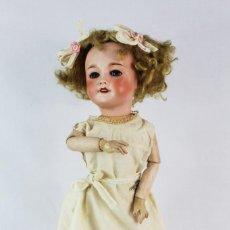 Muñecas Porcelana: MUÑECA COMPOSICIÓN PORCELANA UNIS FRANCE REF. 71 149 301 45CM CA 1920/30. Lote 233123135