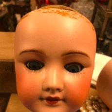 Bambole Porcellana: ANTIGUA CABEZA MUÑECA UNÍS FRANCE - CON FALTAS. Lote 237919070