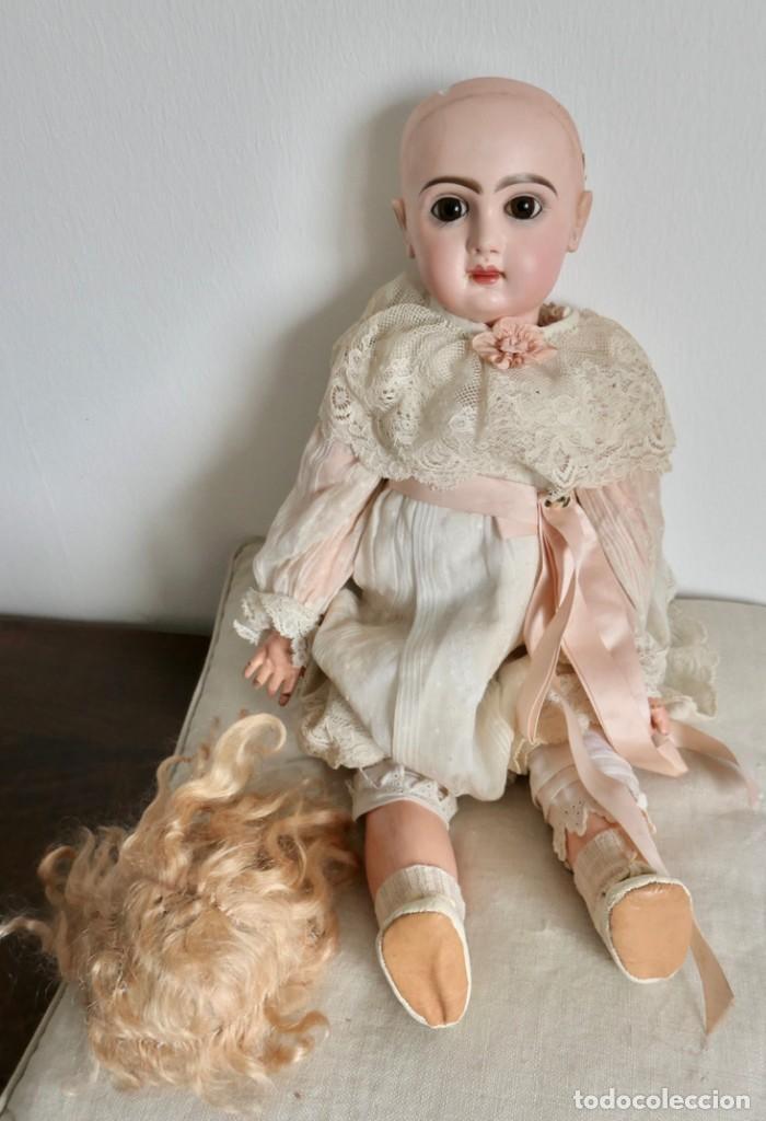 MUÑECA JUMEAU FRANCESA ARTICULADA CON CUERPO DE COMPOSICIÓN,MODELO PARLANTE,ROPA DE ORIGEN 52 CM (Juguetes - Muñeca Extranjera Antigua - Porcelana Francesa)