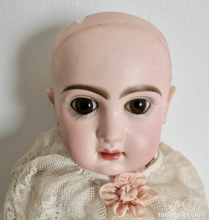 Muñecas Porcelana: MUÑECA JUMEAU FRANCESA ARTICULADA CON CUERPO DE COMPOSICIÓN,MODELO PARLANTE,ROPA DE ORIGEN 52 CM - Foto 2 - 254885940