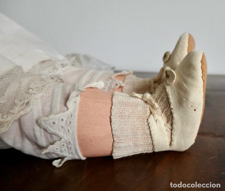 Muñecas Porcelana: MUÑECA JUMEAU FRANCESA ARTICULADA CON CUERPO DE COMPOSICIÓN,MODELO PARLANTE,ROPA DE ORIGEN 52 CM - Foto 21 - 254885940