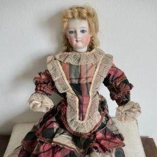 Muñecas Porcelana: ANTIGUA MUÑECA FASHION LADY-CUERPO DE PIEL BRAZOS DE PORCELANA- ROPA ORIGINAL-42 CM. Lote 254913825