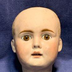 Muñecas Porcelana: CABEZA MUÑECA PORCELANA BOCA ABIERTA FRANCIA ALEMANIA OJOS VIDRIO FIN S XIX PPIO S XX T17 15X11X11CM. Lote 260692875
