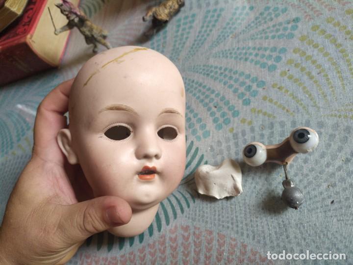 MUY ANTIGUA CABEZA DE MUÑECA DE PORCELANA MIREN FOTOS (Juguetes - Muñeca Extranjera Antigua - Porcelana Francesa)