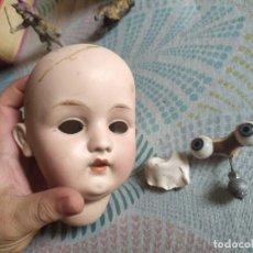 Muñecas Porcelana: MUY ANTIGUA CABEZA DE MUÑECA DE PORCELANA MIREN FOTOS. Lote 278460803