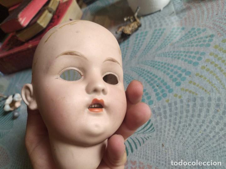 Muñecas Porcelana: MUY ANTIGUA CABEZA DE MUÑECA DE PORCELANA MIREN FOTOS - Foto 6 - 278460803
