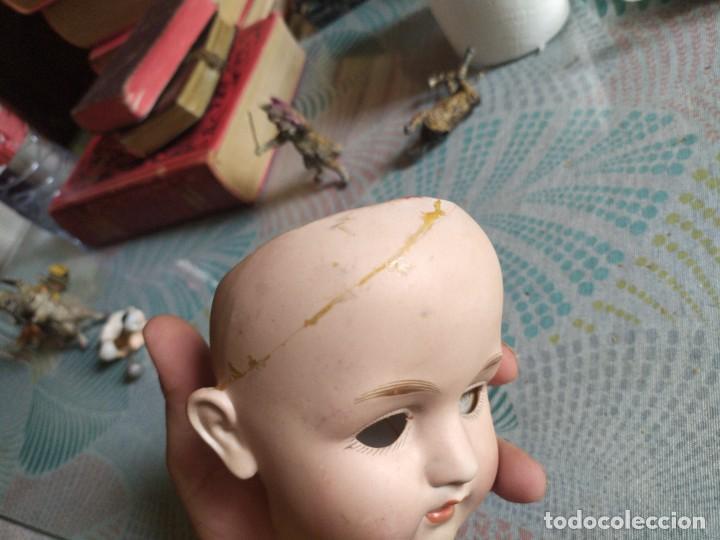 Muñecas Porcelana: MUY ANTIGUA CABEZA DE MUÑECA DE PORCELANA MIREN FOTOS - Foto 7 - 278460803