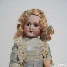 Muñecas Porcelana: PRECIOSA MUÑECA DEP JUMEAU, CABEZA DE BISCUIT, 1900,1915, 50 CM.. Lote 288014213