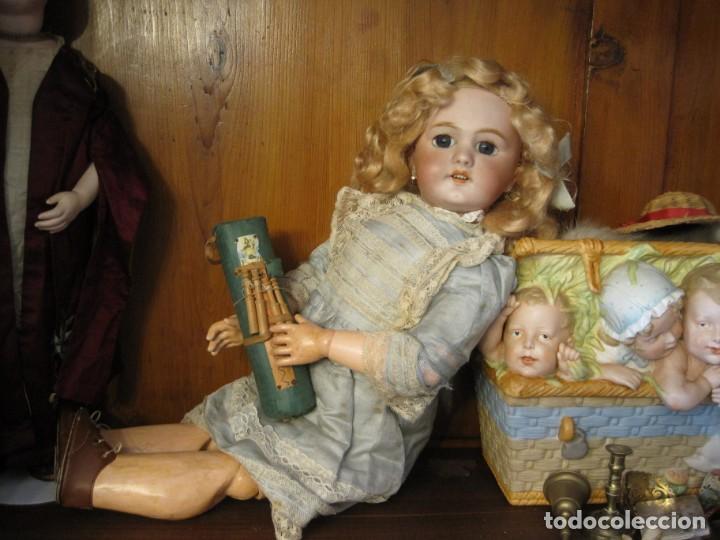 Muñecas Porcelana: PRECIOSA MUÑECA DEP JUMEAU, CABEZA DE BISCUIT, 1900,1915, 50 CM. - Foto 4 - 288014213