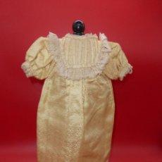 Muñecas Porcelana: ANTIGUO ORIGINAL SEDA VESTIDO MUÑECA ANTIGUA FRANCESA PORCELANA BISCUIT S. XIX / ANTIQUE DOLL DRESS. Lote 288881388