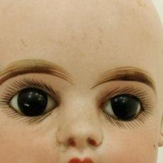 Porzellan-Puppen: ANTIGUA MUÑECA EN CARTON PIEDRA Y CABEZA PORCELANA EDEN BEBE PARIS L, BOCA CERRADA, (55X13). Lote 288933453