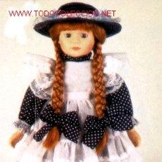 Porzellan-Puppen - 1) Preciosa muñeca de porcelana, rubia con trenzas. Hecha completamente a mano. Edición limitada. Co - 25989265