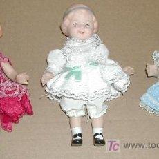 Muñecas Porcelana - Lote 3 muñecas de porcelana, vestidos originales - 14897912