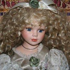 Muñecas Porcelana: PRECIOSA MUÑECA DE PORCELANA. Lote 178180576