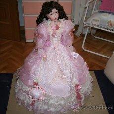 Muñecas Porcelana: ENORME MUÑECA DE UN METRO DE ALTURA DE PORCELANA. Lote 23731642
