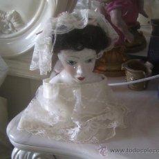 Muñecas Porcelana: PRECIOSO BUSTO DE MUÑECA. Lote 27547443