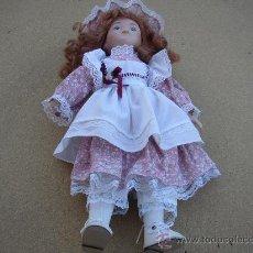 Muñecas Porcelana: BONITA MUÑECA DE PORCELANA,CON SELLO EN LA NUCA. Lote 21816558