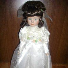 Muñecas Porcelana: MUÑECA PORCELANA ANTIGUA VESTIDA DE NOVIA.. Lote 20289631