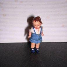 Muñecas Porcelana: MUÑECA DE PORCELANA ,ANTIGUA,CON SU VESTIDO ORIGINAL DE EPOCA-6 CM.VER FOTOS. Lote 20572834