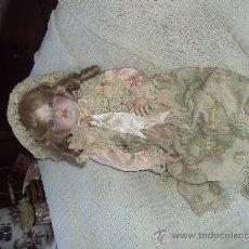 Muñecas Porcelana: ANTIGUA MUÑECA VALENCIANA REALIZADA POR EL ESCULTOR RAMON INGLES-MARCA EN LA NUCA (R I ). Lote 30209675