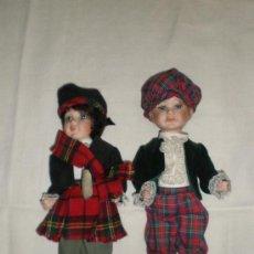 Muñecas Porcelana: PAREJA DE NIÑOS DE PORCELANA. Lote 27141768