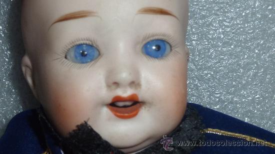 Muñecas Porcelana: Preciosa muñeca de porcelana de finales s.XIX. Marcas en nuca. Vestido posterior. - Foto 7 - 25578195