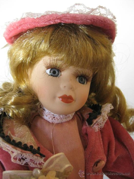 Muñecas Porcelana: MUÑECA PORCELANA CON PRECIOSO VESTIDO Y BOLSITO - Foto 2 - 276273628