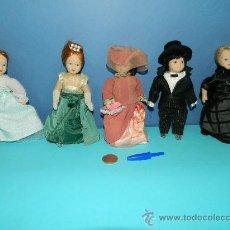 Muñecas Porcelana: 5 MUÑECAS VICTORIANAS IDEAL PARA CASITAS DE MUÑECAS - PORCELANA - Nº 4. Lote 29280151