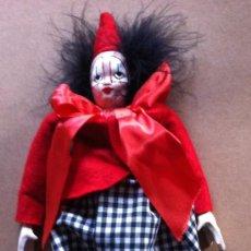 Muñecas Porcelana: ENVÍO 6€. OFERTA PIERROT DE PORCELANA EN BUEN ESTADO. MUY POCO JUDAGO. Lote 30907766