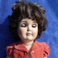 Muñecas Porcelana: MUÑECA CON CUERPO DE COMPOSICION Y CABEZA PORCELANA AÑOS 40. Lote 31076628