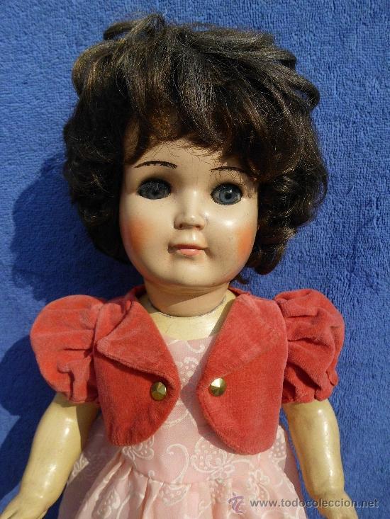 Muñecas Porcelana: Muñeca con cuerpo de composición y cabeza porcelana años 40 - Foto 3 - 31076628