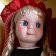 Muñecas Porcelana: MUÑECA GOOGLY DE PORCELANA CAPERUCITA ROJA CUENTOS PLANETA DEAGOSTINI. Lote 52001271